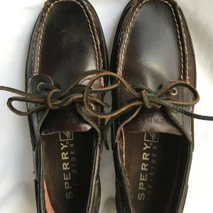 Sperry Top Sider Charter Amaretto Boat Shoes 8M
